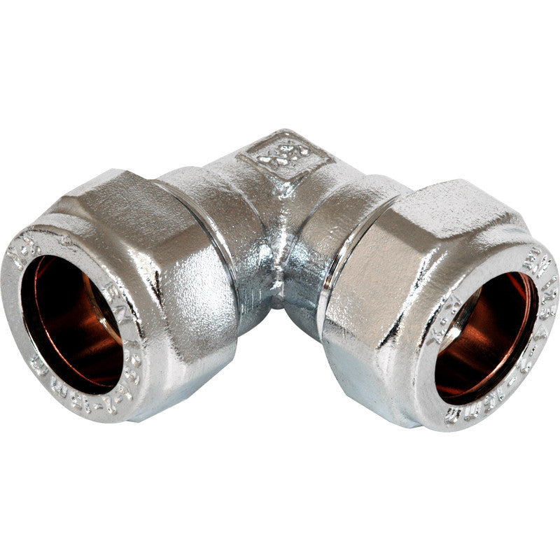 Compression Elbow Chrome Plated - Plastic Plumb