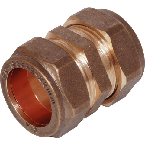 Compression Straight Coupler - Plastic Plumb
