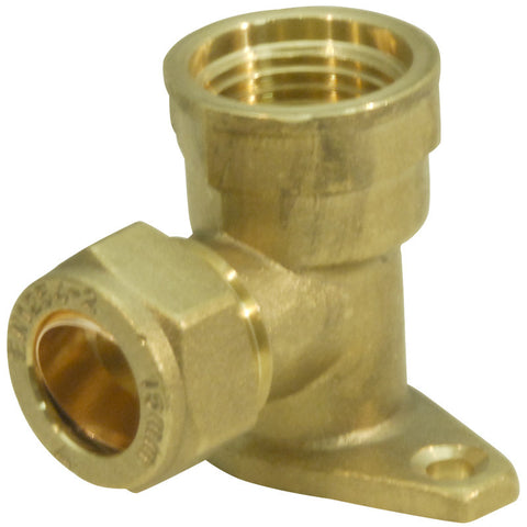 Compression Wallplate Elbow - Plastic Plumb