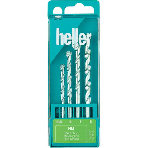 Heller HM - Masonry Drill Bit Set - 4 Piece - Pipe Station