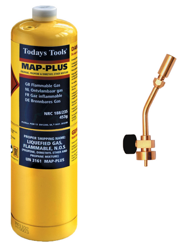Mapp Gas + Torch Pack - Plastic Plumb