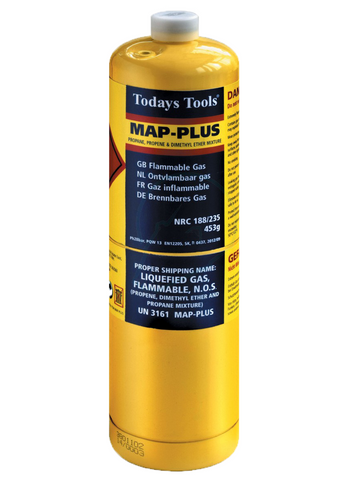 Map-Plus Gas Cylinder 453g - Plastic Plumb