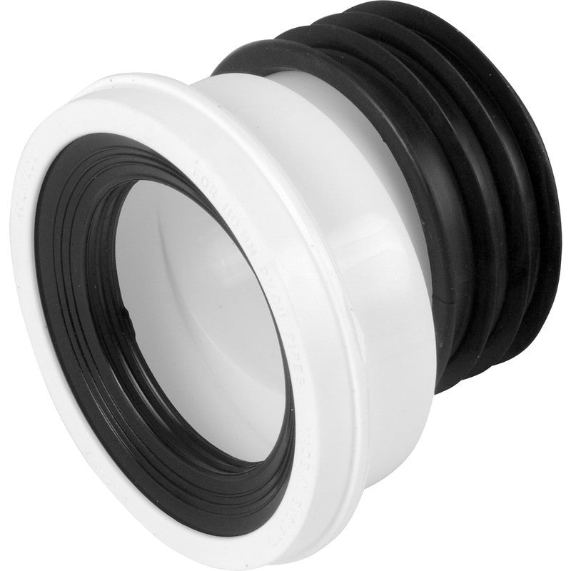 Offset Pan Connector - Plastic Plumb