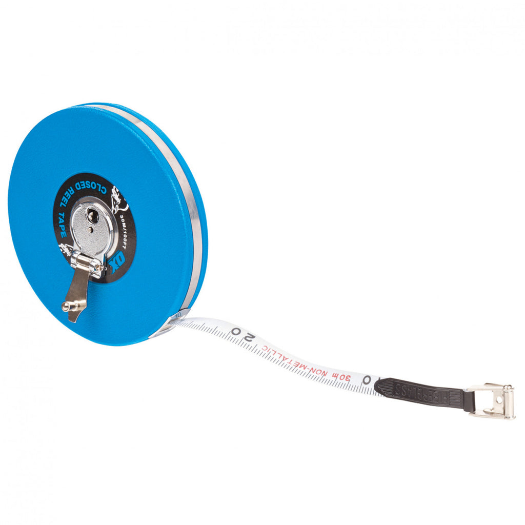 Trade Closed Reel Tape Measure - Plastic Plumb