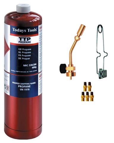 Propane Gas, Torch, Ignitor + Flint Pack - Pipe Station