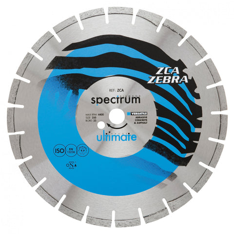 ZCA Zebra Ultimate Abrasive Dual Purpose Floorsaw Diamond Blade - Plastic Plumb