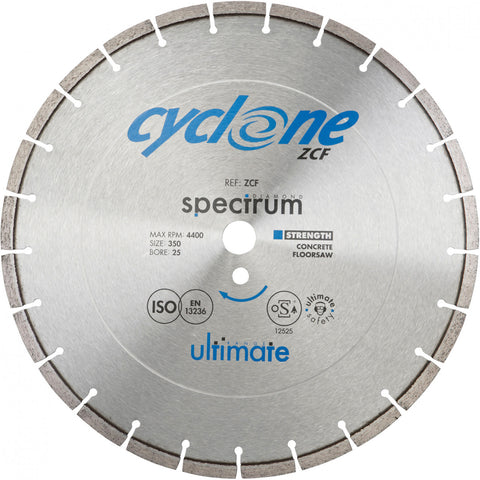 ZCF Cyclone Ultimate Concrete Floorsaw Diamond Blade