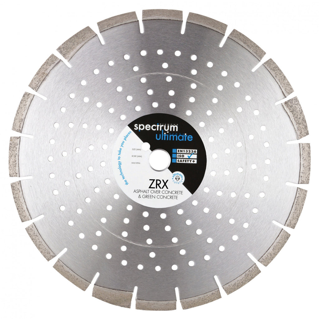 ZRX Green Concrete & Asphalt Over Concrete Floorsaw Diamond Blade