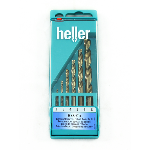 Heller 6pc Cobalt Drill bit set - Pipe Station