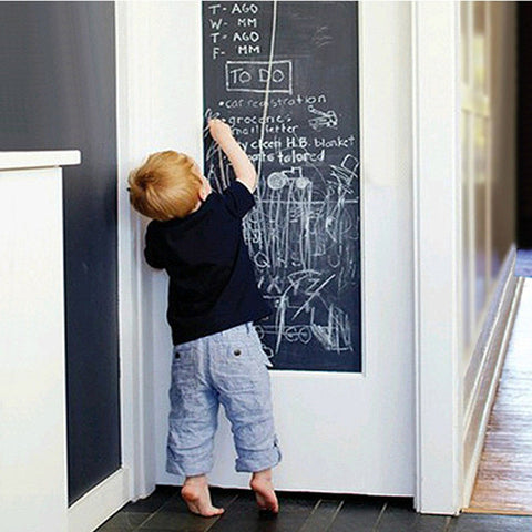1pcs Creative Vinyl Chalkboard Sticker Removable Blackboard Sticker Home Decor Blackboard Wall Stickers With Regular Chalks