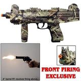 Camouflage- UZI Fully Automatic Front Firing Blank Machine Gun