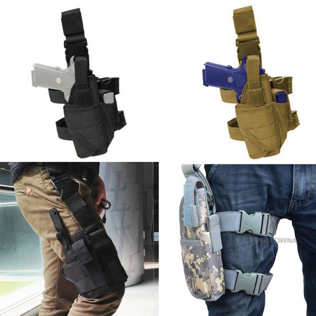 Adjustable Tactical Army Drop Leg Thigh Holster Pouch Holder Quick Release