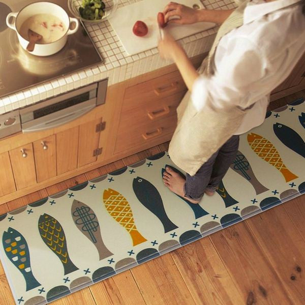 Fish Door Mat Alfombras Hall Bathroom KitchenHome Rug Absorbent Non-slip Coral Velvet Mats Carpet Strips tapete 3 Sizes