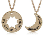 Sun Moon Stars Necklace