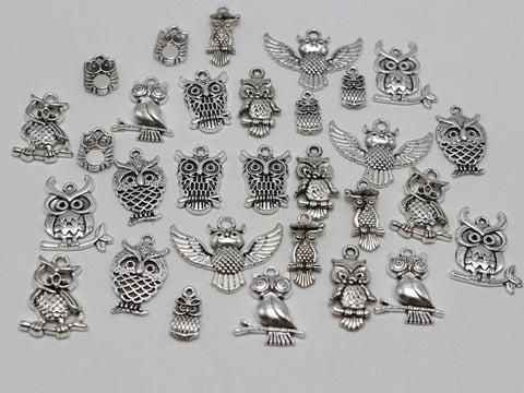 Mixed Owl Bracelet Charms
