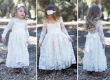 Childrens Lace White Dress