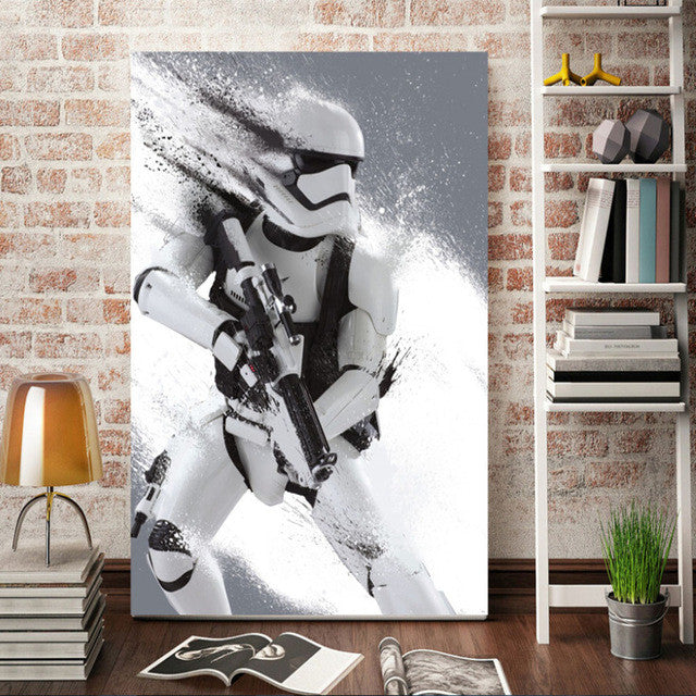 Morden wall art stormtrooper Star Wars movie poster home decor