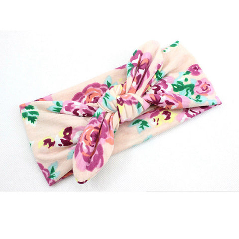 Floral Baby Bow