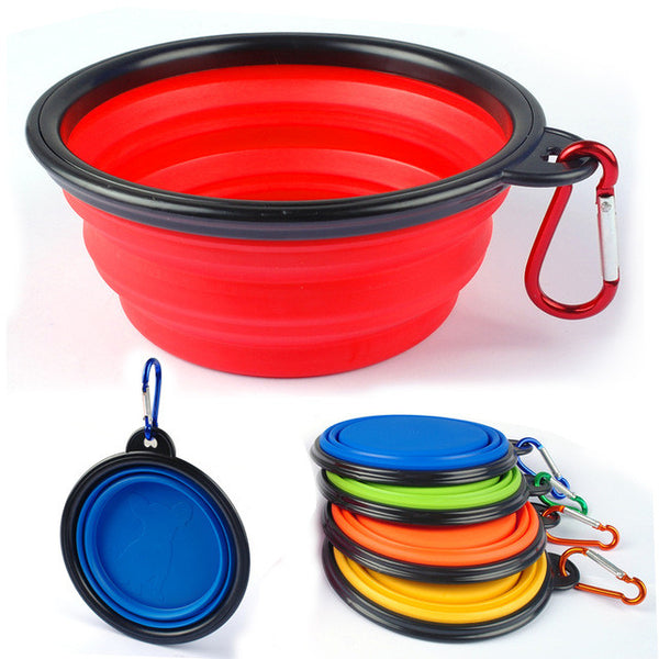 Folding Dog Feeding Bowl Collapsible Cats Water Dish Cat Portable Feeder Puppy Travel Bowls