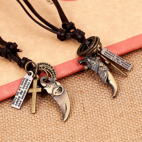 Animal & Cross Necklace