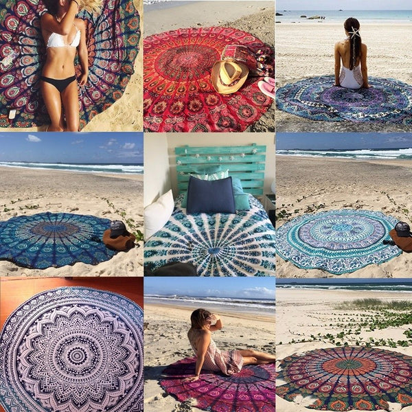 2016 New Women Bohemian Hippie Summer Beach Bikini Cover Up Chiffon Swimwear Bathing