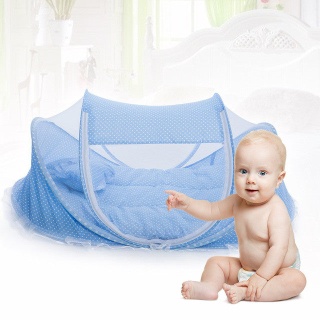 Folding Baby Crib 0-3 Years Baby Bedding Mosquito Net Portable Foldable Baby Bed Crib Mosquito Netting Cotton Sleep Travel Bed