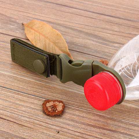 Hot Sale New Outdoor Tactical Nylon Webbing Buckle Hook Water Bottle Holder Clip EDC
