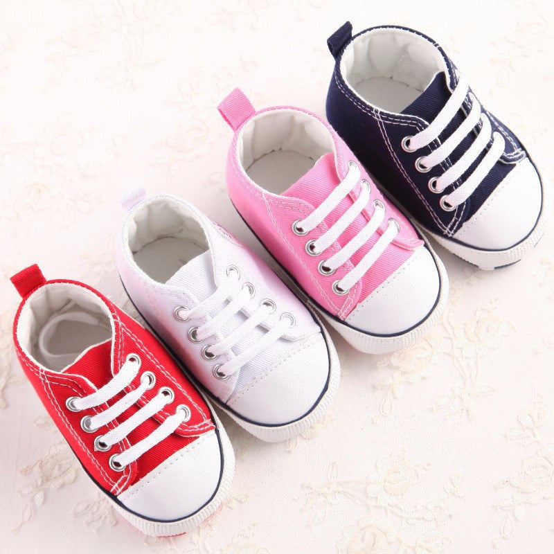 Classic Sports Sneakers Newborn Baby Boys Girls First Walkers Shoes Infant Toddler Soft Bottom Anti-slip Prewalker Shoes