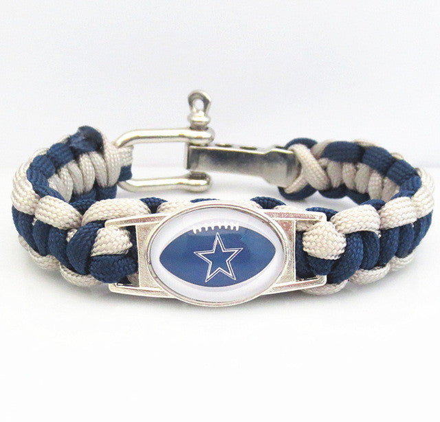 Wholesale factory team DALLAS COWBOYS Paracord Bracelet sport fans Football Survival friendship bracelets
