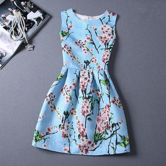 Summer Stuly Casual Print Dress Women Fashion