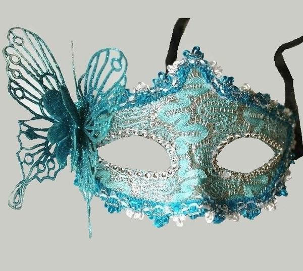 10 pc/lot Halloween Masquerade half face mask Venetian mask powder princess dimensional butterfly mask