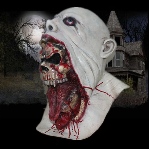 X-MERRY Parasite Zombie Mask - Scary Mask With Blood - Horror Halloween Mask Latex Mask