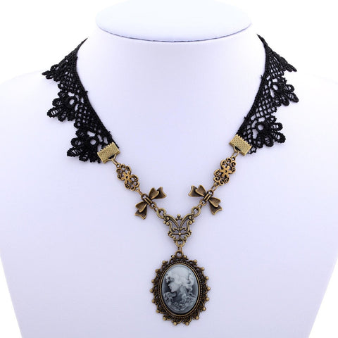 Victorian Lace And Copper Necklace