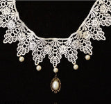White Lace Necklace