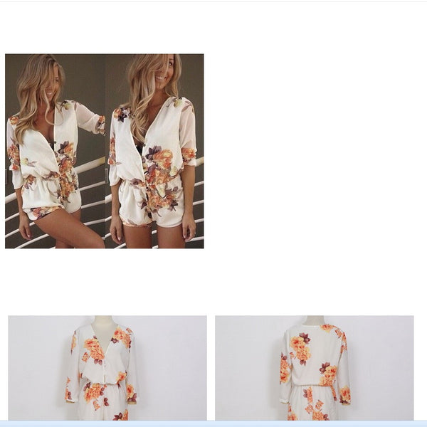 2016 female new summer printing slim long sleeve shirt dresses / women's fashion v-neck casual loose dress
