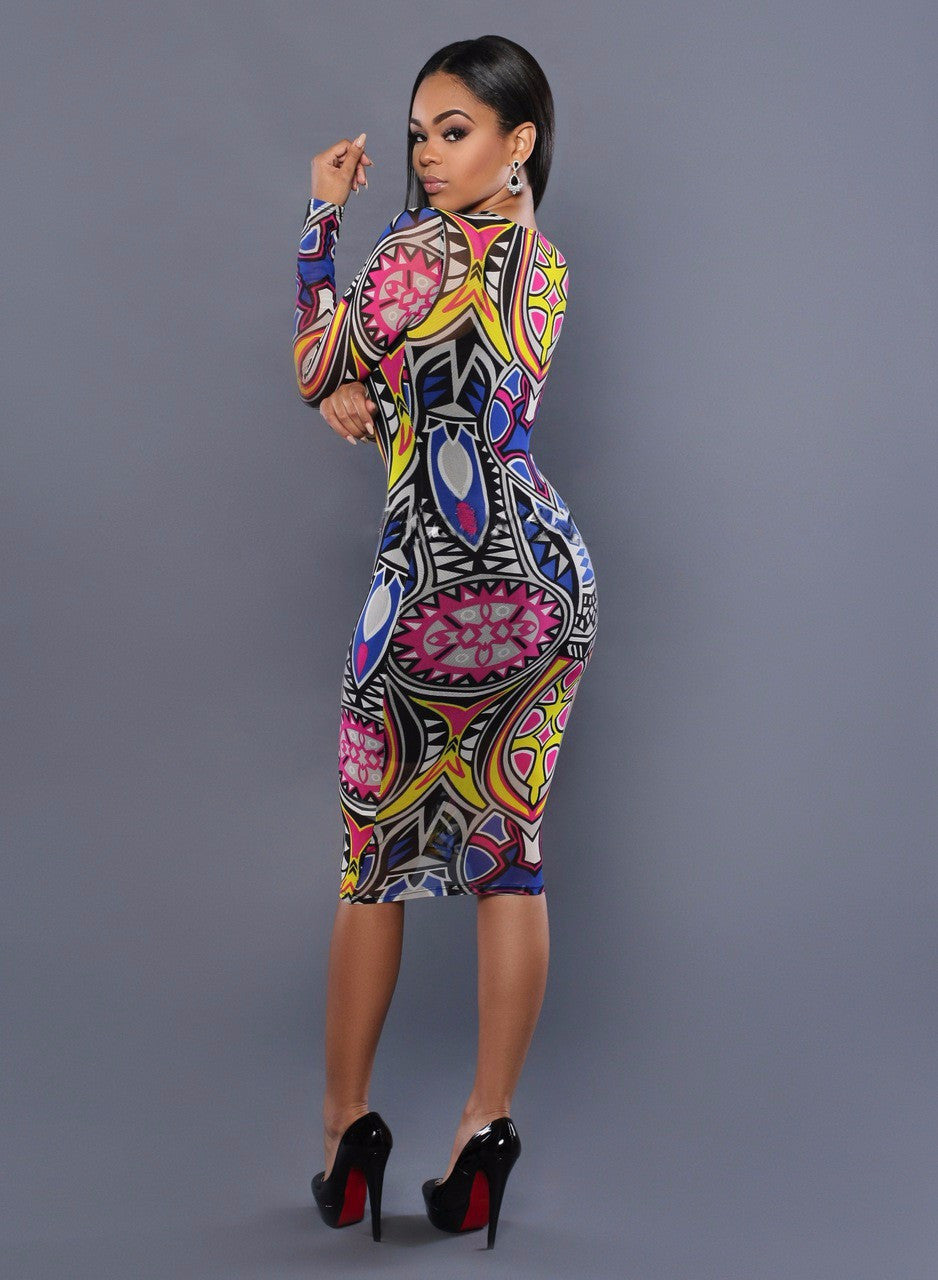 Dashiki bodycon dress Robe femme ete 2016 bohemian dress summer clothes for women