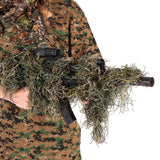 Tactical 3D  Wrap Cover Use Elastic Strap For Camouflage Forest Hunting Ghillie Suit for Airsoft Shooting range Hunting