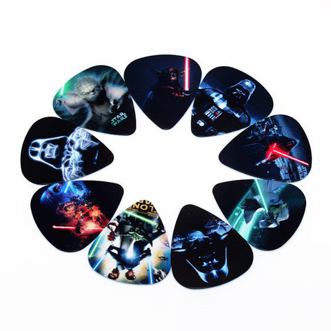 fashion 10pcs Newest Star Wars Guitar Picks Thickness 0.71mm Musical instrument accessories