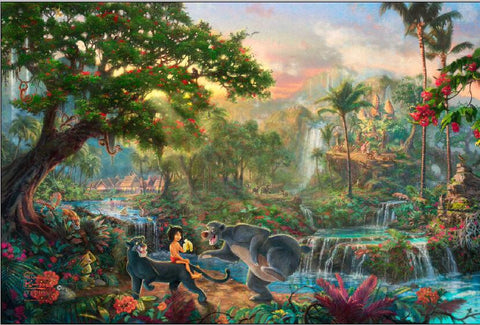 Thomas Kinkade Images prints Art Print On Canvas Home Decoration Wall Art Jungle Book