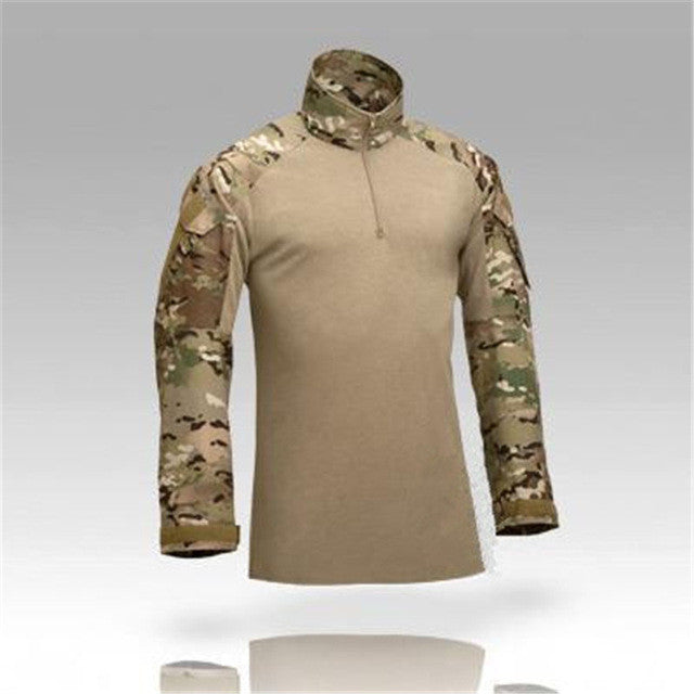 Camouflage military uniform us army combat shirt