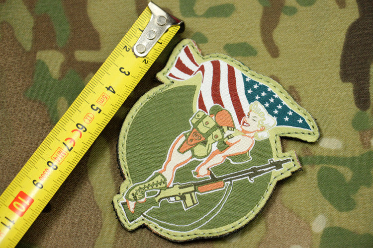 Bikini Shock Worker Patches Fabric Tactical Patch Embroidery Military Morale Armband Army Badge 2pcs