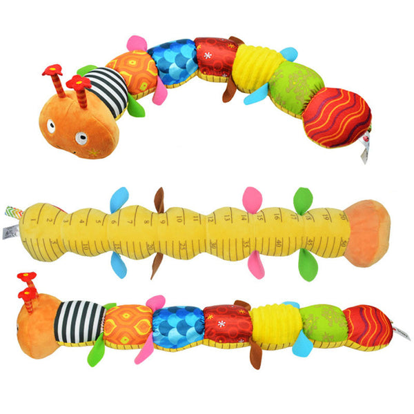 55cm soft Baby Toys Musical stuff Caterpillar with Ring Bell Cute Cartoon Animal Plush creative Doll Early Educational