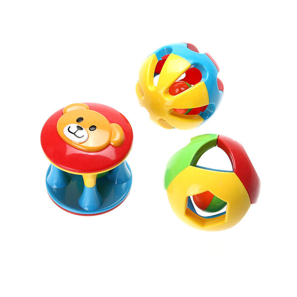 3 Pcs Bell Ball Eco-friendly Plastic Baby Toy Fun Little Loud Jingle Ball Ring Jingle Develop Baby Intelligence Toy Gifts