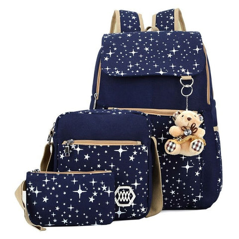 3pcs/set Backpack Women
