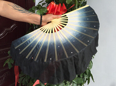 Chinese Real Silk Bamboo Fan