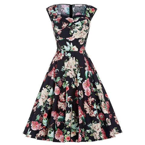 Rockabilly Floral Dress