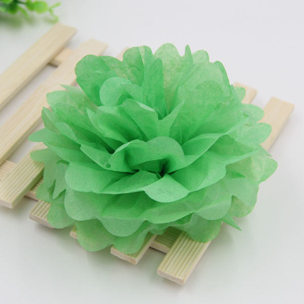 "Diy Multi Colour 4"" 6"" 8"" mixed Sizes 15pcs Paper Flowers Ball Wedding Home Birthday Party Car Decoration Tissue Paper Pom Poms"