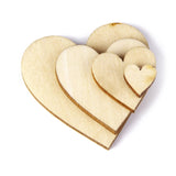 100Pcs Plain Wood Wooden Hearts