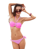 Bandeau Bikini  European and American Bikinis Set Swimsuit  Bra Push Up women 2017 Swimwear