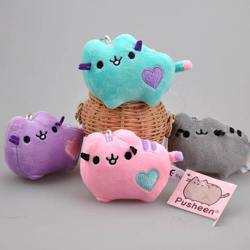 2017 Kawaii Brinquedos New Small Pendant Pusheen Cat Stuffed  Plush Animals Toys for Girls